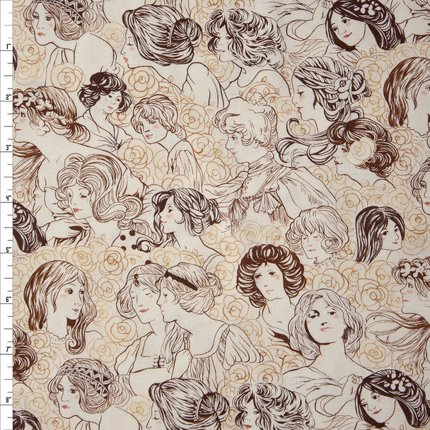Joie De Vivre Ivory by Robert Kaufman Quilter's Cotton Print Fabric By The Yard