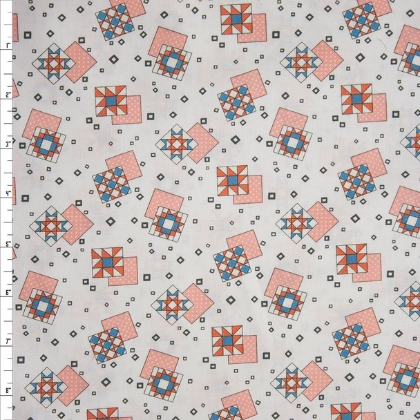 Quilt Squares Sew Special by Wyndham Fabrics Quilter's Cotton Print Fabric By The Yard