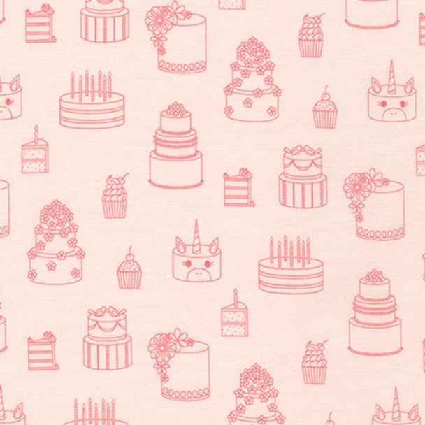 On the Lighter Side Pink from Robert Kaufman Quilter's Cotton Print