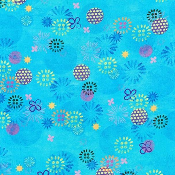 Octopus Garden Water from Robert Kaufman Quilter's Cotton Print