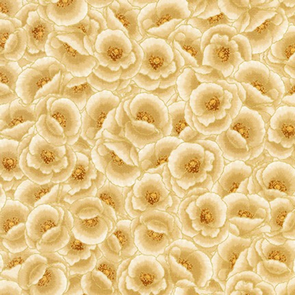 Gilded Blooms Natural Flowers from Robert Kaufman Quilter's Cotton Print