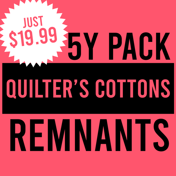 Remnant Pack - 5y Quilter's Cotton