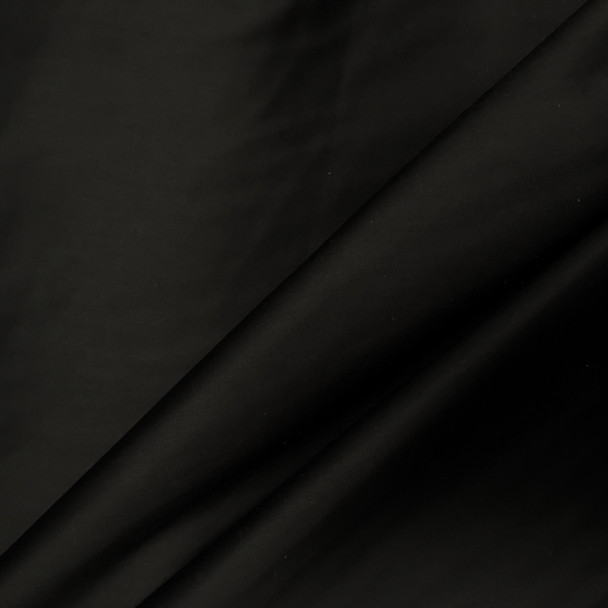 Lightweight Black Cotton Sateen