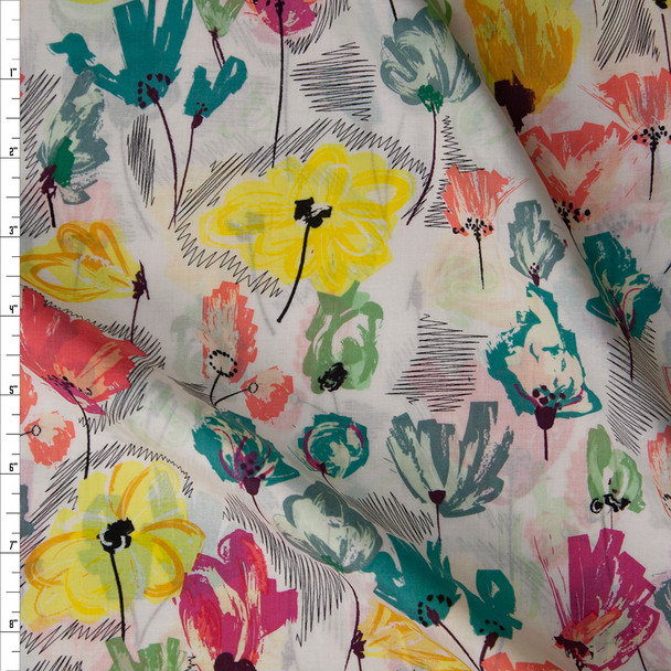 Wild Beauty Pineapple Cotton Voile from Art Gallery Fabrics Fabric By The Yard