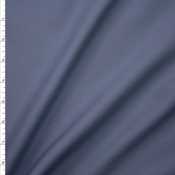 Medium Grey Stretch Poly/Cotton Twill Fabric By The Yard