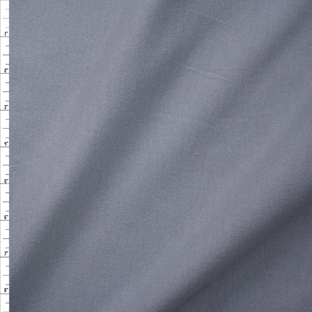 Grey Double Nap Midweight Cotton Flannel Fabric By The Yard