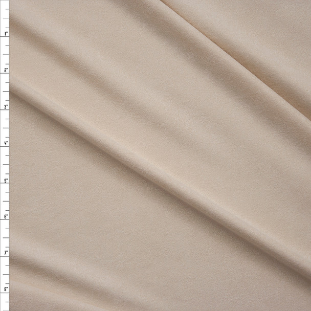 Ivory Lightweight Designer Stretch Suede Fabric By The Yard
