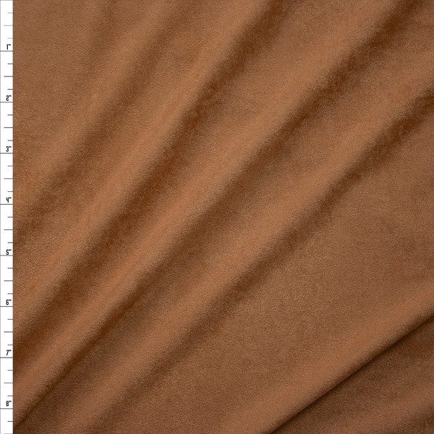 Tan Lightweight Designer Stretch Suede Fabric By The Yard