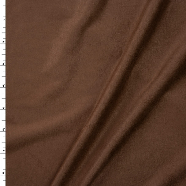 Light Espresso Lightweight Designer Stretch Suede Fabric By The Yard