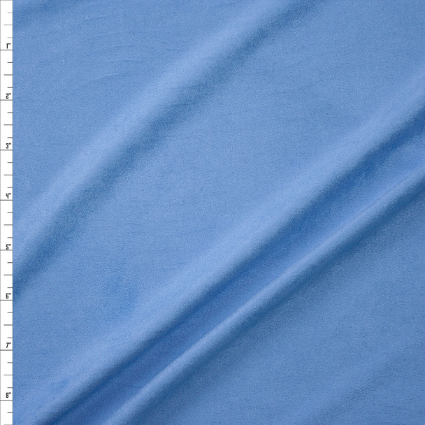 Sky Blue Lightweight Designer Stretch Suede Fabric By The Yard