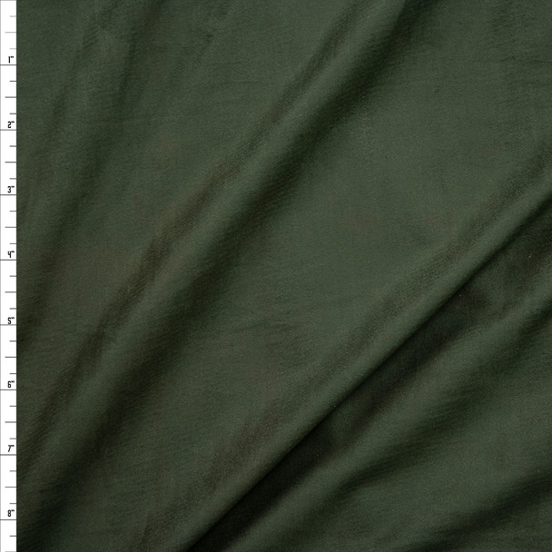 Forest Green Lightweight Designer Stretch Suede Fabric By The Yard