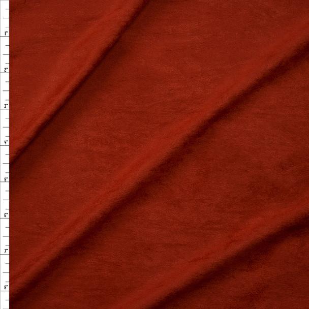 Burnt Orange Lightweight Designer Stretch Suede Fabric By The Yard