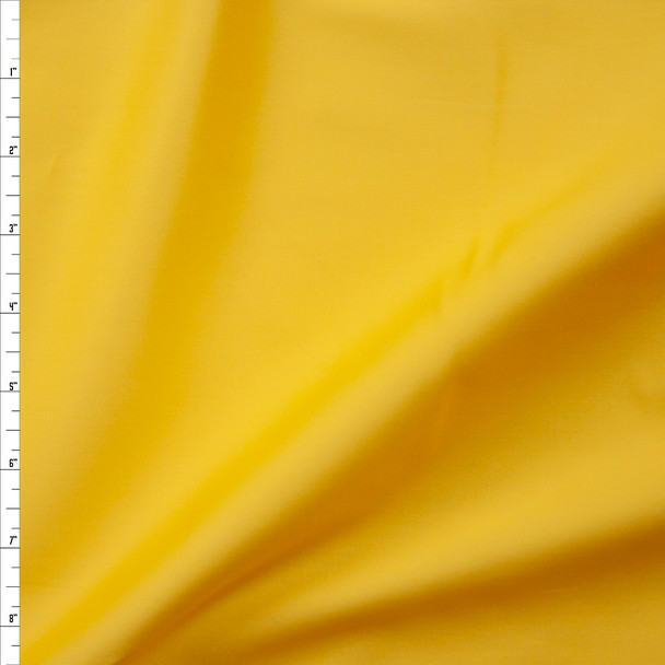 Sunshine Yellow Stretch Cotton Sateen Fabric By The Yard