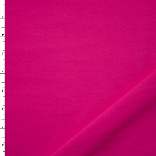Hot Pink Stretch Cotton Sateen Midweight Cotton Poplin Fabric By The Yard