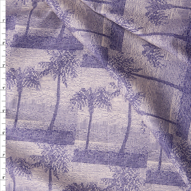 Numeric Palm Tree Silhouette Fine Cotton Shirting from Tori Richards Fabric By The Yard