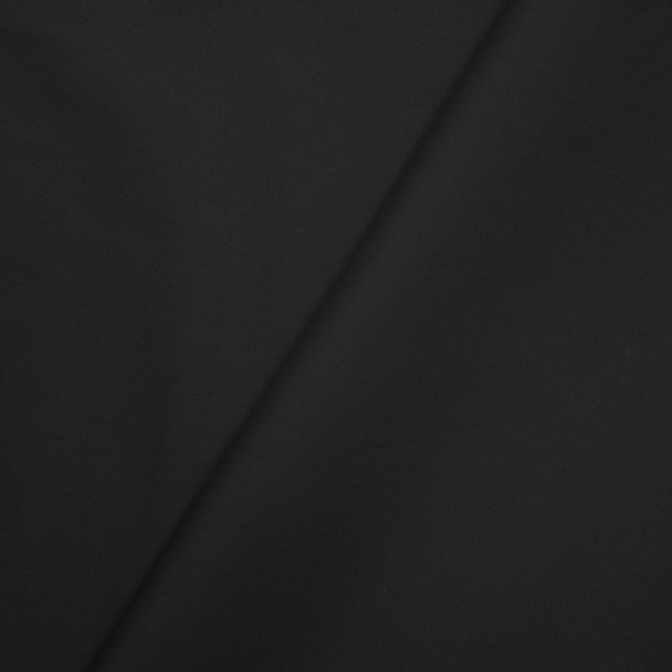 Black Stretch Poly/Cotton Broadcloth Fabric
