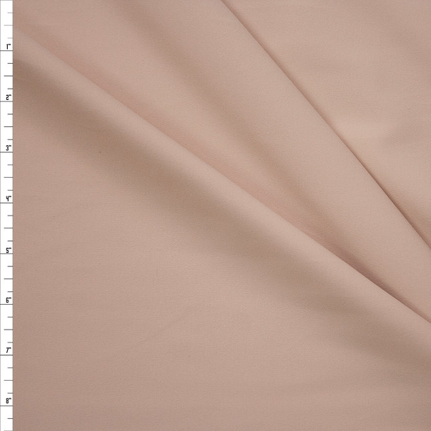 Light Tan Midweight Poly/Spandex Knit Fabric By The Yard