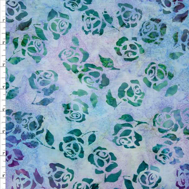 Rosette Lavender Batik by Robert Kaufman Quilter's Cotton Fabric By The Yard