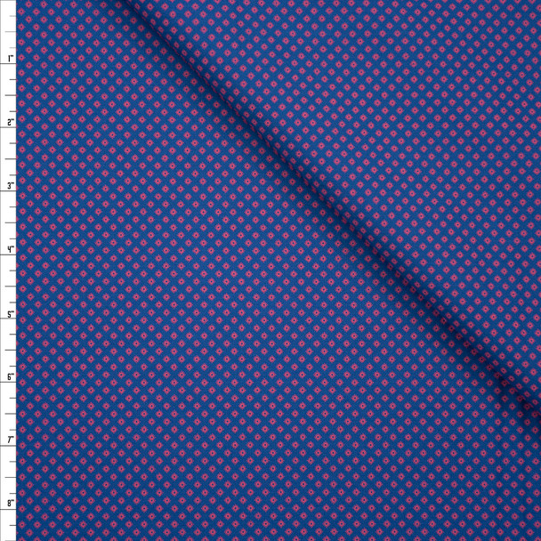 Tootal Super Classic High Count Poplin Lipstick Diamonds Fabric By The Yard