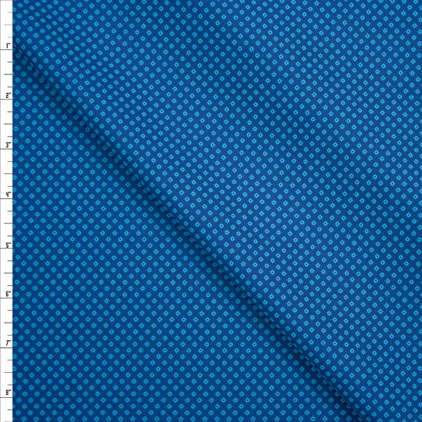 Tootal Super Classic High Count Poplin Lagoon Diamonds Fabric By The Yard