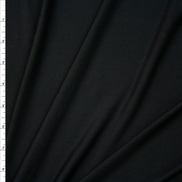 Black Soft Lightweight Stretch Rayon Jersey Fabric By The Yard