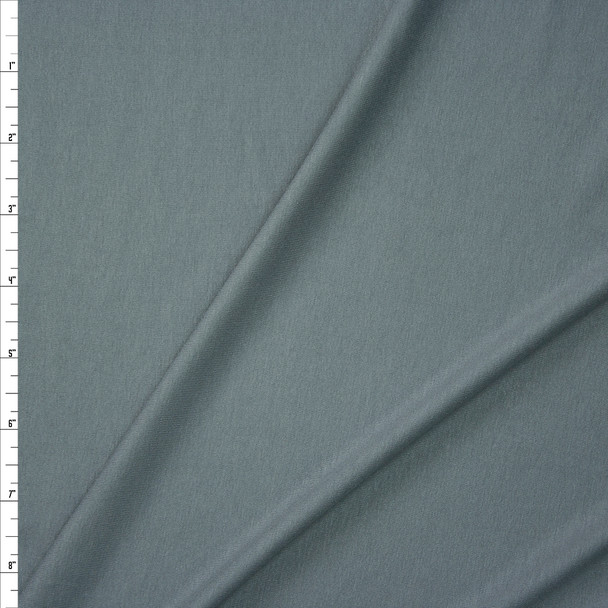 Grey Light Midweight Stretch Rayon Jersey Fabric By The Yard