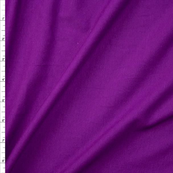 Purple Soft Light Midweight Stretch Cotton Jersey Fabric By The Yard
