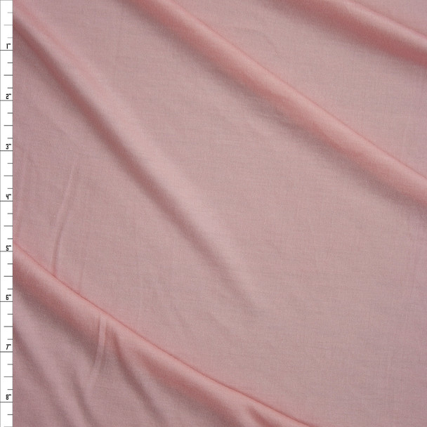 Pale Pink Soft Lightweight Stretch Rayon Jersey Fabric By The Yard
