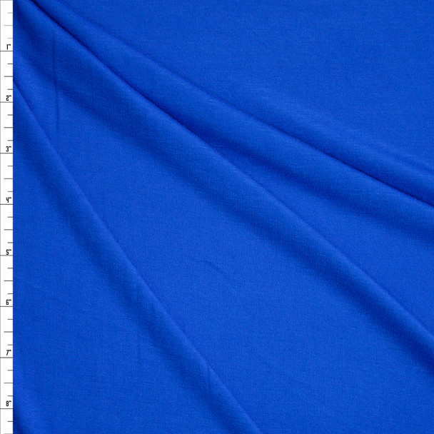 Blue Soft Lightweight Stretch Rayon Jersey Fabric By The Yard