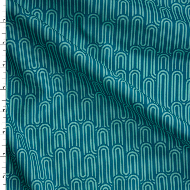 Lucid Hills Jade Cotton Voile by Art Gallery Fabrics Fabric By The Yard
