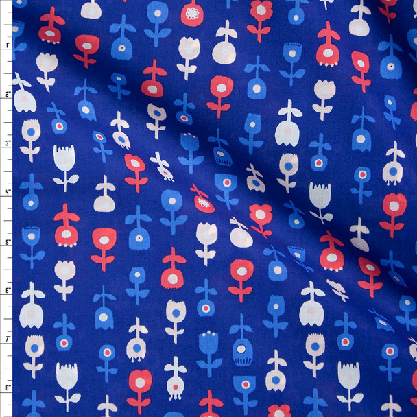 De Roos Donker Cotton Voile by Art Gallery Fabrics Fabric By The Yard