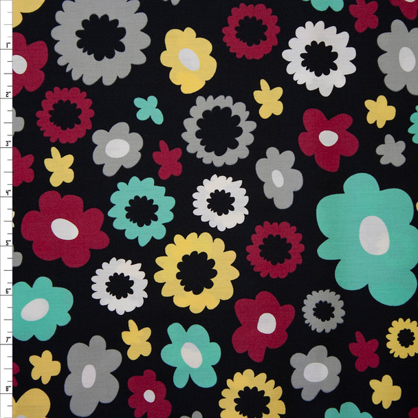 Poppy Fields Caviar Quilter's Cotton from Art Gallery Fabrics Fabric By The Yard