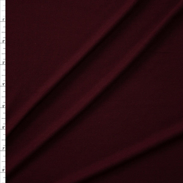Merlot Solid Double Brushed Poly Spandex Fabric By The Yard