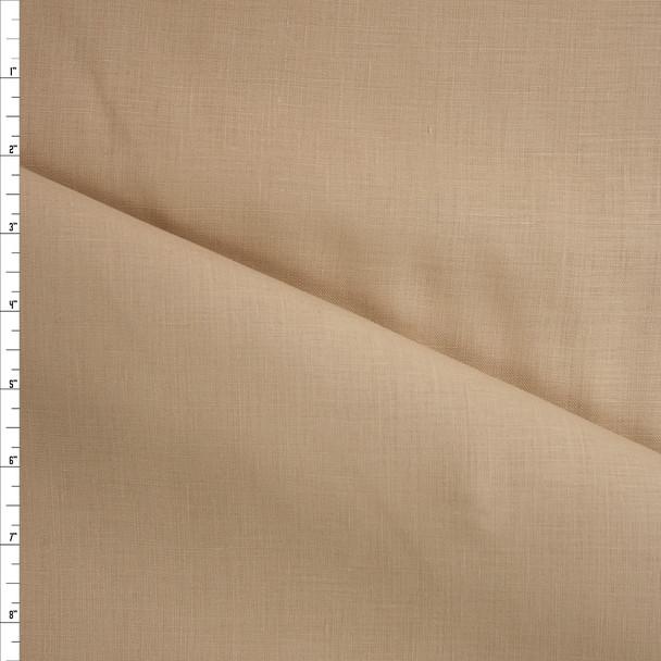 Tan Midweight Irish Linen Fabric By The Yard