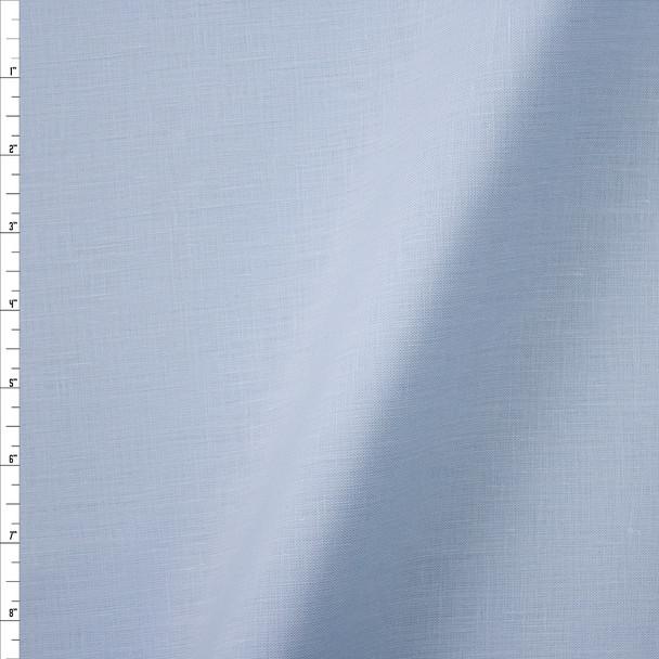 Light Blue Midweight Irish Linen Fabric By The Yard