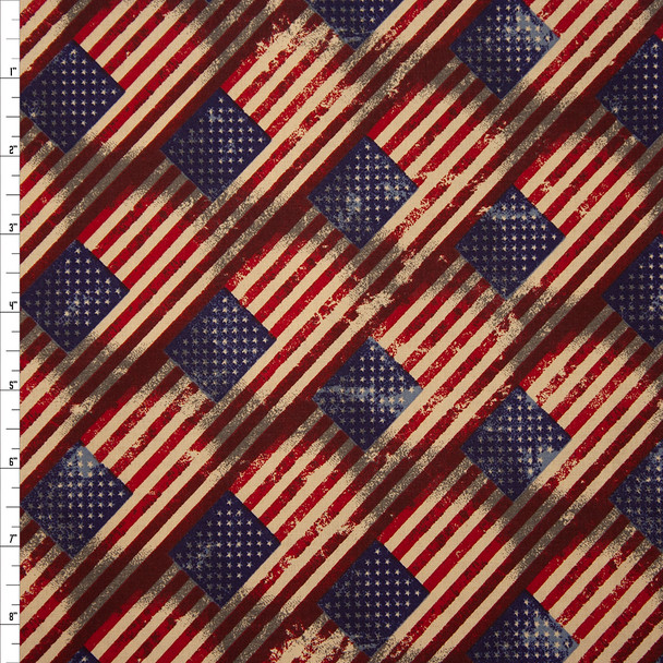 Patriotic Flag Print 48475 Quilter's Cotton Fabric By The Yard