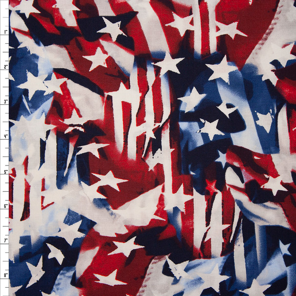 Patriotic Flag Print 49024 Quilter's Cotton Fabric By The Yard
