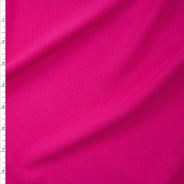 Neon Pink Solid Bullet Liverpool Knit Fabric By The Yard