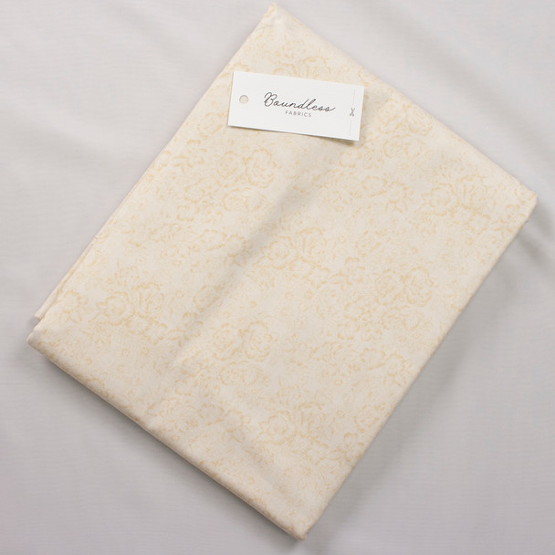 Boundless Quilter's Cotton Blender Cream (Bargain 6y Cut) Fabric By The Yard