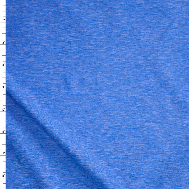 Sky Blue Heather Stretch Athletic Knit Fabric By The Yard