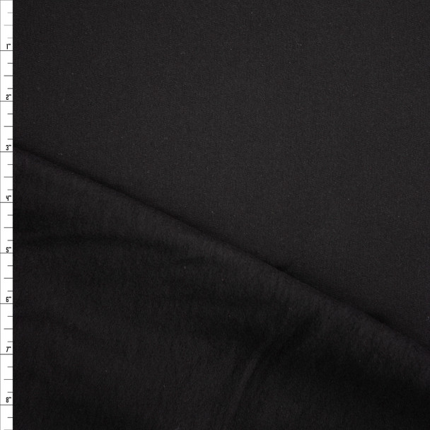 Black Cotton Sweatshirt Fleece Fabric By The Yard