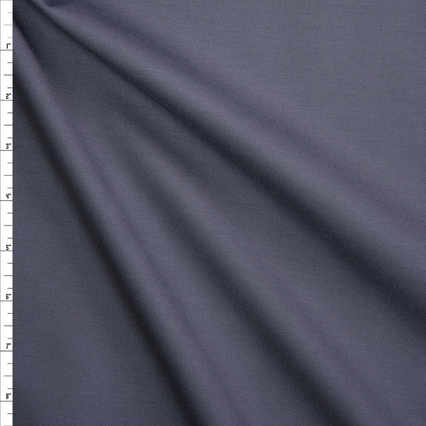 Charcoal Heavy Stretch Ponte Fabric By The Yard