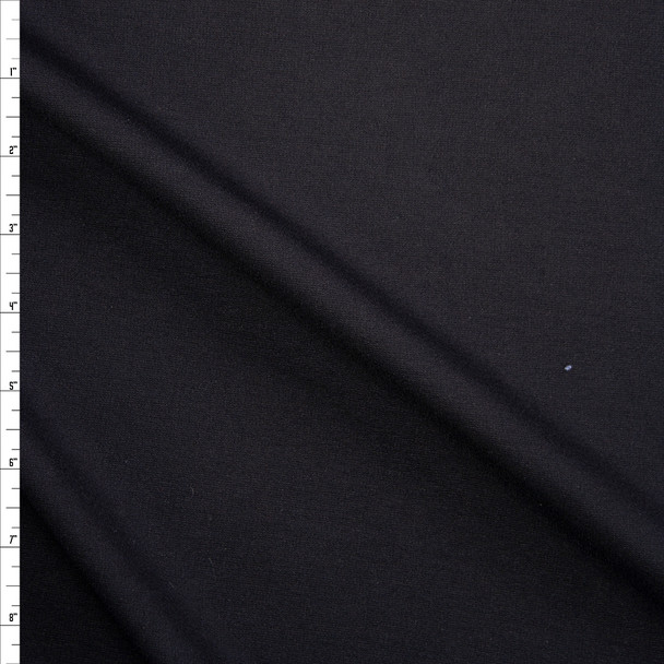 Black Heavy Stretch Ponte Fabric By The Yard