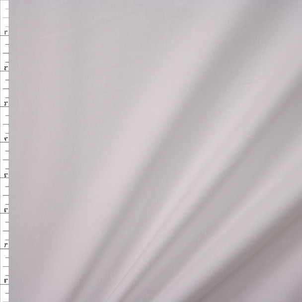 White Stretch Cotton/Spandex Jersey Knit Fabric By The Yard