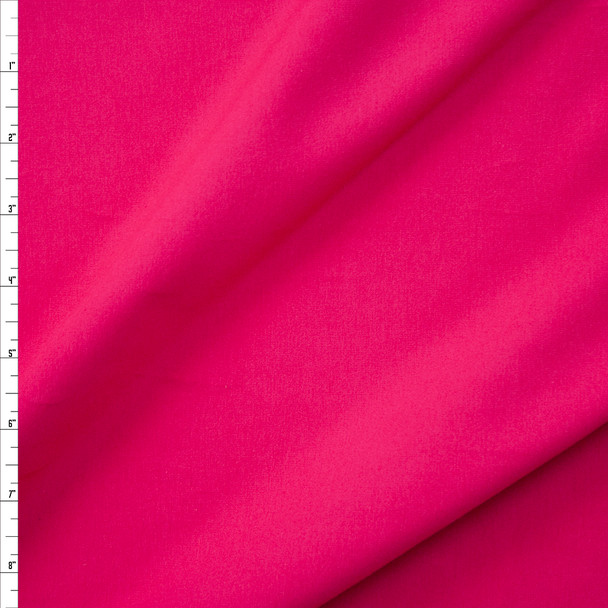 Hot Pink Stretch Cotton/Spandex Jersey Knit Fabric By The Yard