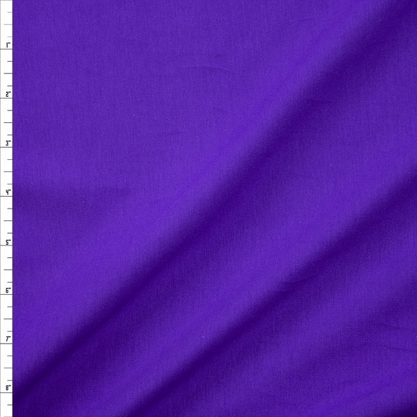 Imperial Purple Stretch Cotton/Spandex Jersey Knit Fabric By The Yard