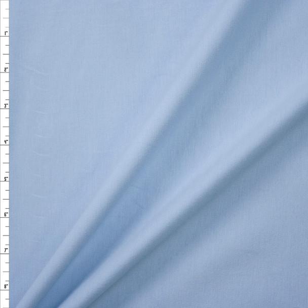 Light Blue Stretch Cotton/Spandex Jersey Knit Fabric By The Yard