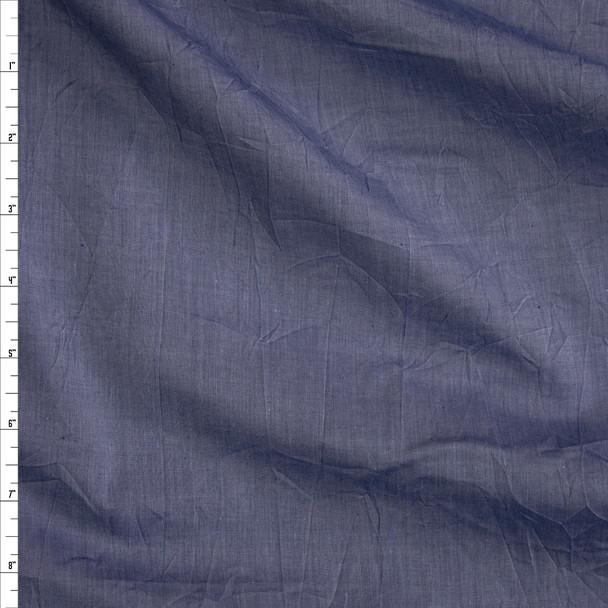 Blue Lightweight Chambray Shirting Fabric By The Yard