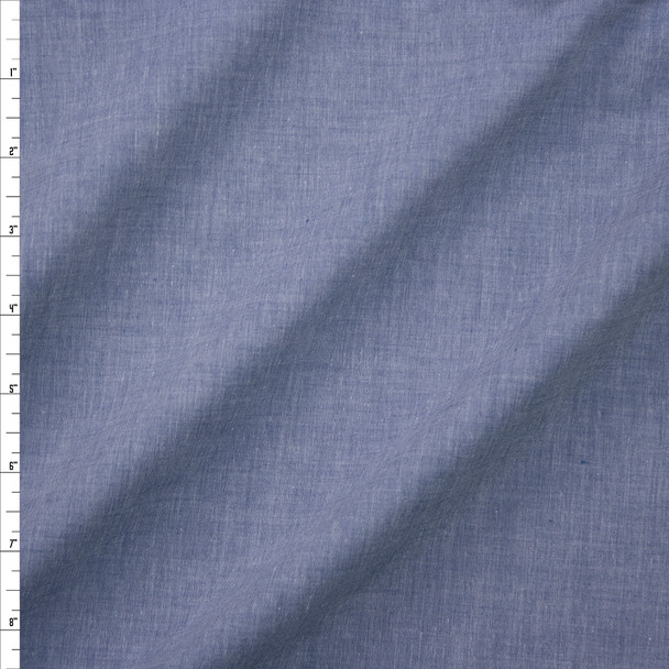 Light Blue Tissue Weight Chambray Fabric By The Yard