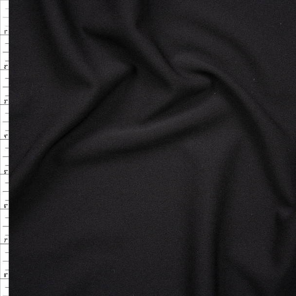 Black Crepe Knit Fabric By The Yard